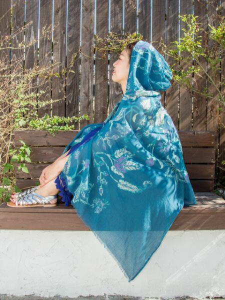 【10%OFFクーポン 5/26(日)まで】チャイハネ ジェーンフードUVストール 公式 エスニック アジアン ファッション雑貨 ストール/ショール ISAP9119