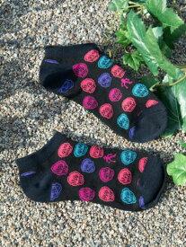 チャイハネ 公式 《コロリドくるぶしソックス(27cm)》 エスニック アジアン ファッション雑貨 靴下 CISP9208