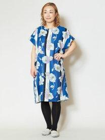 24aaab17c6159d 倭物やカヤ 公式 《縞ポピーワンピース》 和柄 和モダン ファッション ワンピース