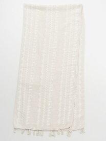 欧州航路 公式 《クロス刺しゅうストール》 ヨーロッパ 雑貨 ファッション ファッション雑貨 ストール/ショール/スカーフ LCOP9103