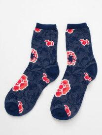 チャイハネ オリフラミドルソックス(24cm) 公式 エスニック アジアン ファッション雑貨 靴下 JQKP9102
