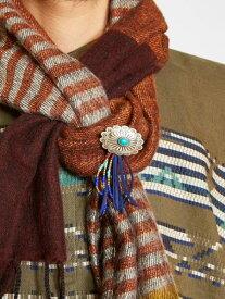 チャイハネ 公式 《ストーンコンチョブローチ》 エスニック アジアン ファッション雑貨 ショールピン/ブローチ NMBP6310