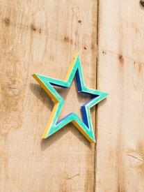 スターオーナメントチャイハネ 公式 エスニックBXXP7201カラフルなウッドの星型オーナメント。お部屋を飾ろう♪