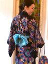 【ZIP!で紹介された浴衣の帯です!!】インドのボーンタイダイをユカタの帯に。カラフルな色合いが楽しめるユカタ帯。/ボーンオビ
