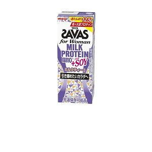 【ケース販売】明治 ザバス(SAVAS) for Womanミルクプロテイン 脂肪0+SOY ミルクティー風味 200ml×24本入
