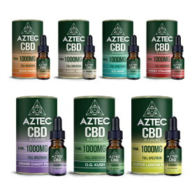 CBD リキッド アステカ AZTEC og kush スーパーレモンヘイズ テルペン フルスペクトラム 高濃度 vape 電子タバコ タバコ 1000mg 10% 10ml 送料無料