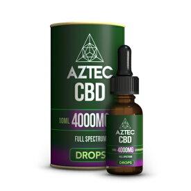 【20%OFFクーポン有】CBD オイル/40%(4000mg)アステカ CBD オイルドロップス 10ml / AZTEC CBD Oil Drops
