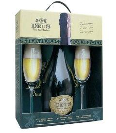 贈り物に! デウス ビール 専用グラス2脚付き ギフトセット 11.5% 750ml