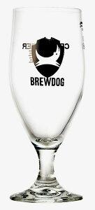 ブリュードッグ ビアグラス ステム (脚付) グラス  (容量:330ml、ロゴ文字:CRAFT BEER FOR THE PEOPLE)