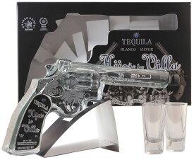 【レア物!】 イホス・デ・ビジャ ブランコ テキーラ リボルバーボトル 40% 200ml 【のし対応可】