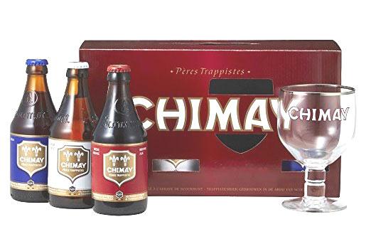 【ベルギー修道院ビール飲み比べ!】シメイ トライアルセット (レッド・ブルー・ホワイト330ml各1本、専用グラス付き)