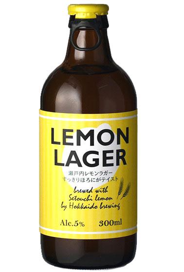【爽やかなレモンの国産クラフトビール!】 北海道 レモンラガー ビール 5.0% 300ml