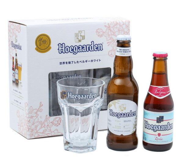 ヒューガルデン ホワイト&ローズ+専用グラス サクラ(桜)セット