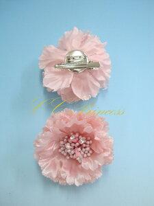 『花のブローチ(ピンク)(BC-002)』 キッズアクセサリー、 女の子、子供、 ブローチ、 コサージュ、 結婚式、 発表会、 パーティー、 ピンク 【CC-Princess】