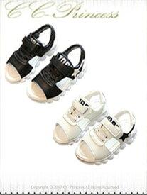 『サンダル キッズサンダル 男の子 女の子 (SH-011)』 男の子、 子供、キッズ サンダル、カジュアル 、お出かけ、黒、白、 14cm-18.5cm アウトレット【CC-Princess】