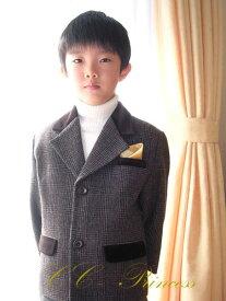 c174c52b6b7d0 『茶色・チェック柄のジャケット≪BY-020-B≫』 男の子、 キッズ、 ジャケット、 スーツ、 子供スーツ、 フォーマル、 結婚式、 発表会、  七五三、 ウール、 ...