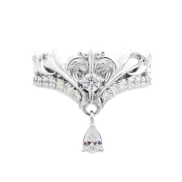 DUB Collection 桜井莉菜 Model Heart Tiara Ring ハートティアラリング レディース SV925 シルバー DUB-C021-1