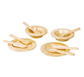 木のおもちゃ お誕生日祝い ギフト PLANTOYS プラントイ 食器セット