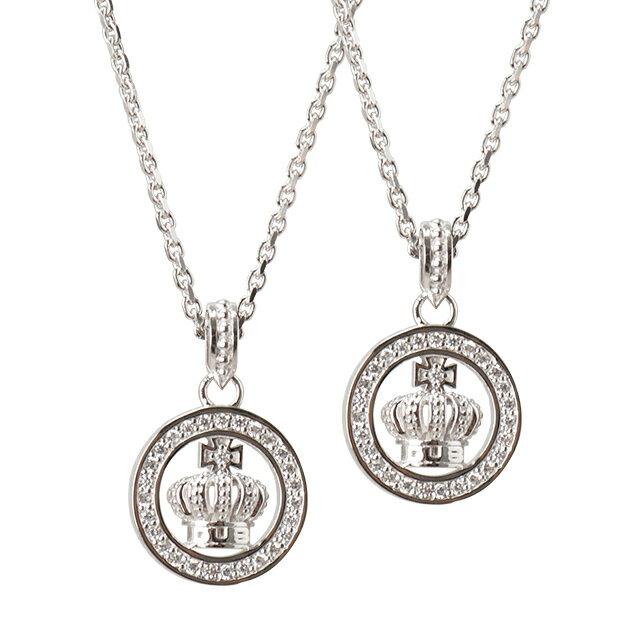 DUB Collection Round Crown Necklace ラウンドクラウンネックレス ペア SV925 シルバー DUBjt-7-Pair