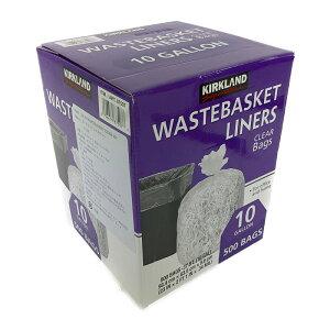 カークランド ゴミ袋 37.8L 透明 500枚入り KS 10GAL Waterbasket Liner