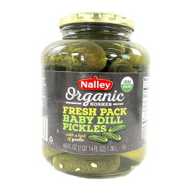 オーガニック ピクルス 1.36kg Nalley Babi Dill Organic Pickles