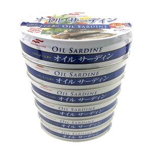 マルハニチロ オイルサーディン (米油) 100g×6缶 MARUHA Oil Sardine