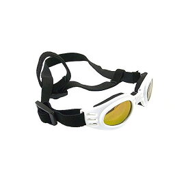 【訳あり】箱無し 特価 愛犬用 眼球保護 ペット サングラス 散歩 ランニング チワワetc 小型犬雑貨(アクセサリー) ドッグゴーグル 白 [acdogswh]