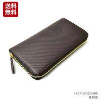 f94ca752cc15 PR [bs35907br] モテる財布 カーボンレザー&ゴールドラウンドフ.