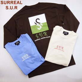 "SURREAL S.U.R シュルリアル ロングスリーブ Tシャツ 長袖Tシャツ""S-Icon Pool"" L/S T-Shirt/ネコポス発送OK!"