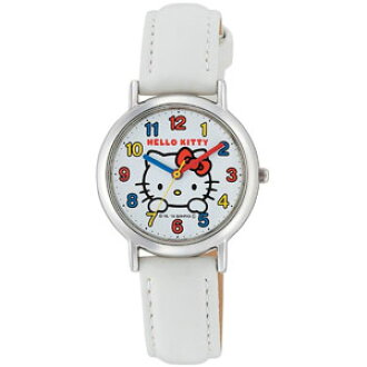 ●● The Citizen Watch Q & Q watch watch HELLO KITTY Hello Kitty character watch HK15-001 HK15 convenience store handling postage and the collect on delivery postage that the heart of the second hand disk changes are 1,380 yen