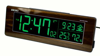 SEIKO clock SEIKO SEIKO alarm clock table clock radio time signal DL210B (strong tea grain of wood design) series C3 digital SEIKO alarm clock (the collect on delivery costs the 1,380 yen postage)