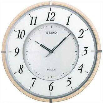 CLOCK SEIKO (Seiko clock) radio clock twin-PA low profile solar plus wood frame Brown SF501B
