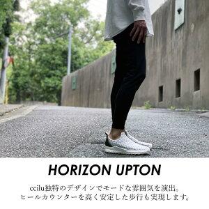 コンフォートシューズメンズスリッポン軽量ccilu(チル)horizone-upton25.5cm〜28.5cmカジュアルドライビングシューズホワイトブラック