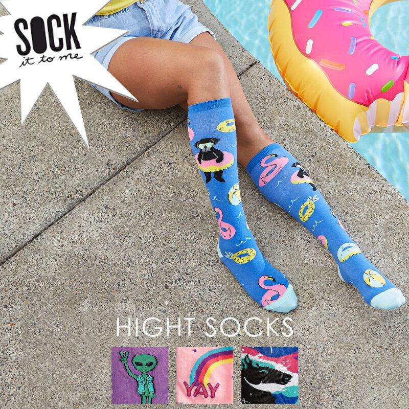 【メール便対応】Sock It To Me[ソック イット トゥ ミー]ハイソックス レディース 靴下 総柄