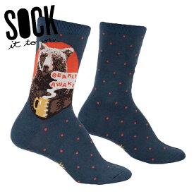 【メール便対応】Sock It To Me[ソック イット トゥ ミー]クルーソックス ソックス レディース 靴下 総柄【Bearly Awake】