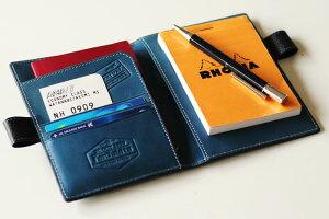 フォータビトパスポート&メモケースパスポートケースメモパッドメモケース革ペンが入るレザー名入れギフト旅For-TabitoシーカンパニーYep_100SMギフト父の日
