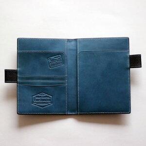 フォー旅人パスポート&メモケース(ネイビー)