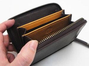 ボルボ・コンパクト財布(ダークブラウン)