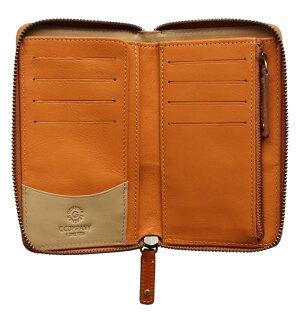 ボルボ・ラウンド財布(ブラウン)