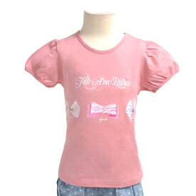 キッズTシャツ(半袖) lovely pastel ribbon【プリントTシャツ クルーネックTシャツ】(こども 子供 子供 キッズ ジュニア 幼児 小学生 女の子 入学祝い)