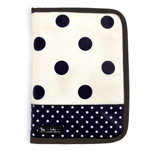 マルチケース/母子手帳ケース(ファスナータイプ) polka dot large(twill・white)【母子手帳カバー 母子手帳入れ】(赤ちゃん ベビー 出産祝い男の子 女の子)