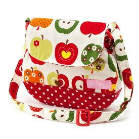 ベビーショルダーバッグ おしゃれリンゴのひみつ(アイボリー) (お出かけ 赤ちゃん 外出 バッグ おでかけバック ベビーポシェット ななめがけポーチ 赤ちゃん ベビー 新生児 出産祝い ギフト 女の子 アップル)