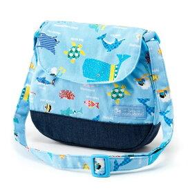 ベビーショルダーバッグ 海洋生物の楽園(ライトブルー) (お出かけ 赤ちゃん 外出 バッグ おでかけバック ベビーポシェット ななめがけポーチ 赤ちゃん ベビー 新生児 出産祝い ギフト 男の子)