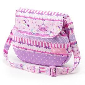 ベビーショルダーバッグ レースチュールとメリーゴーランド(ピンク) (お出かけ 赤ちゃん 外出 バッグ おでかけバック ベビーポシェット ななめがけポーチ 赤ちゃん ベビー 新生児 出産祝い ギフト 女の子 レース ピンク)