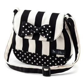 ベビーショルダーバッグ wide stripe(twill・black) (お出かけ 赤ちゃん 外出 バッグ おでかけバック ベビーポシェット ななめがけポーチ 赤ちゃん ベビー 新生児 出産祝い ギフト 男の子/女の子)