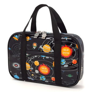 裁縫バッグ ソーイングバッグ 太陽系惑星とコスモプラネタリウム(ブラック)  (小学生 かわいい 裁縫バッグのみ おしゃれ 小学校 お稽古バッグ ケースのみ 男の子 宇宙)