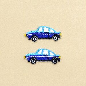 ワッペン 乗用車 (2個セット) 子供用 ワッペン アイロン アップリケ 幼児 子供 かわいい おしゃれ