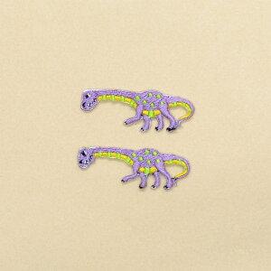 ワッペン アパトサウルス (2個セット) 子供用 ワッペン アイロン アップリケ 幼児 子供 かわいい おしゃれ