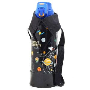 水筒カバー ラージタイプ 太陽系惑星とコスモプラネタリウム(ブラック) (水筒カバー ショルダー 子供 ラージ 水筒 カバー 肩掛け 水筒 ケース ボトルカバー 水筒ケース 800ml 1 リットル
