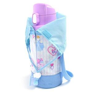 水筒カバー スモールタイプ プリンセスドレスで彩るパウダールーム (ストライプ) 子供用 水筒カバー ショルダー 子供 水筒 カバー 肩掛け 水筒 ケース ボトルカバー 水筒ケース 600ml